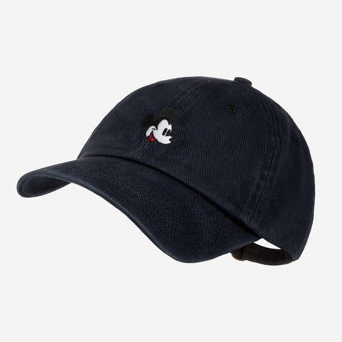 Mickey Mouse Black Denim Washed Cap