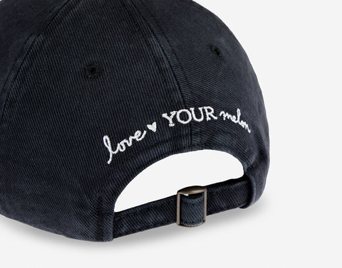 Minnie Mouse Black Denim Washed Cap