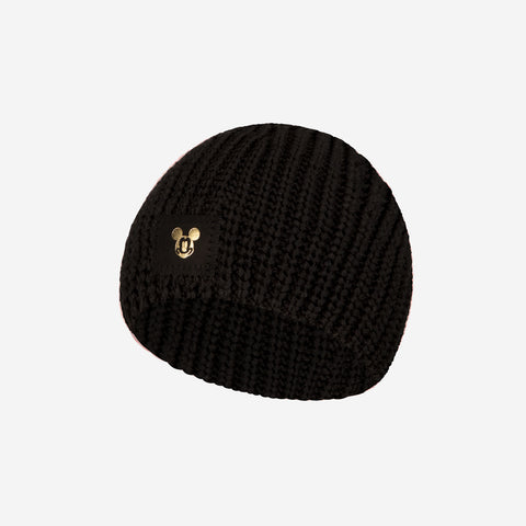 Black Mickey Mouse Baby Beanie