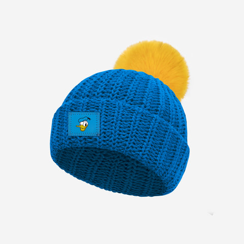 Donald Duck Bright Blue Baby Pom Beanie