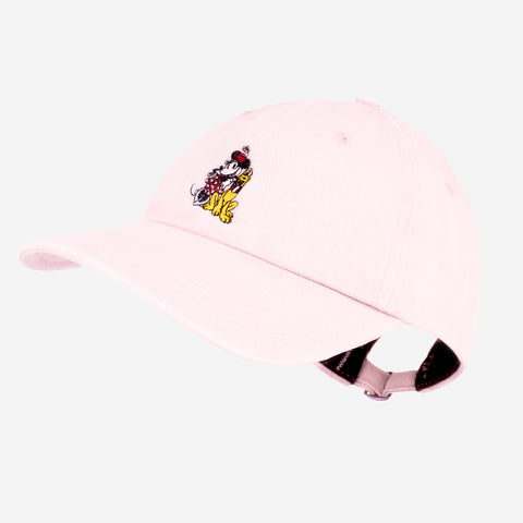 Minnie Mouse and Pluto Light Pink Denim Washed Cap
