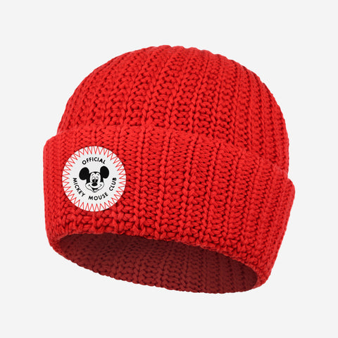 Mickey Mouse Club Adult Red Cuffed Beanie