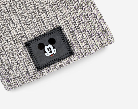Kids Black Speckled Mickey Mouse Beanie
