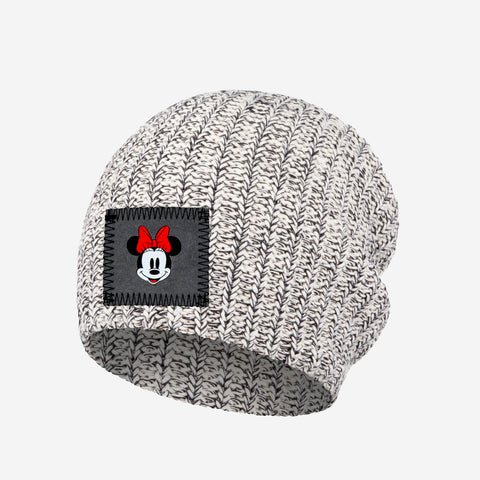 Kids Black Speckled Minnie Mouse Beanie