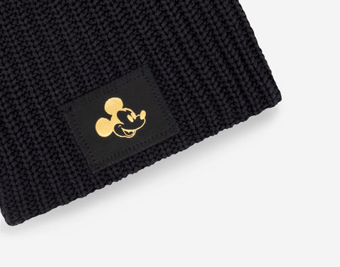 Pre-Order Mickey Mouse Black Gold Foil Kids Beanie
