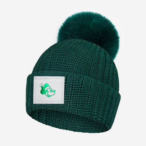 Kids Mickey Mouse Hunter Pom Beanie