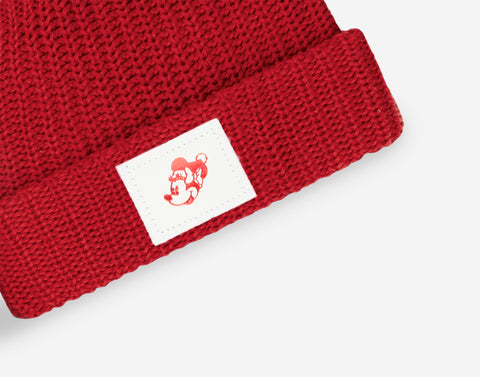 Kids Minnie Mouse Red Pom Beanie