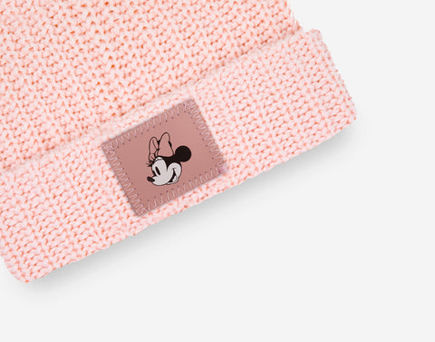 Pre-Order Minnie Mouse Blush Kids Double Pom Beanie