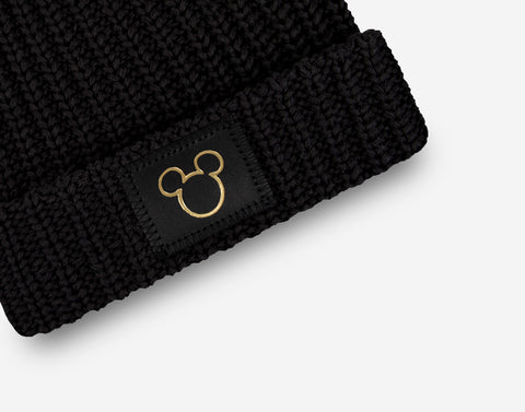 Mickey Mouse Black Gold Foil Cut Out Kids Double Pom