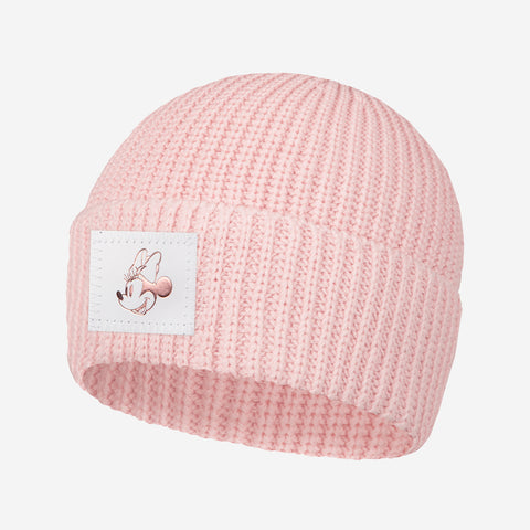 Blush Minnie Mouse Rose Gold Foil Lightweight Cuffed Beanie