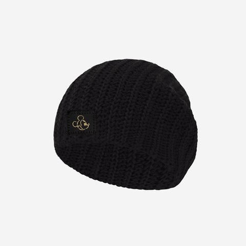 Mickey Mouse Black Gold Foil Face Outline Baby Beanie