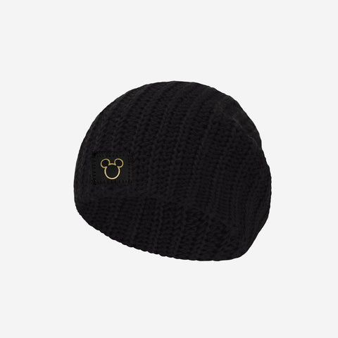 Mickey Mouse Black Gold Foil Cut Out Baby Beanie