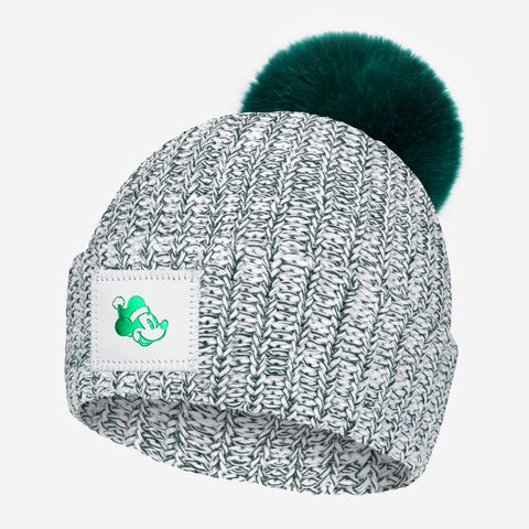 Mickey Mouse Hunter Speckled Pom Beanie