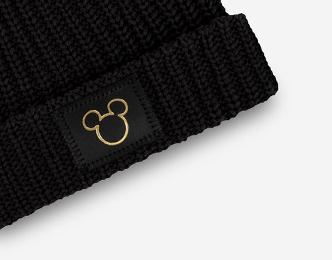 Mickey Mouse Black Gold Foil Cut Out Double Pom