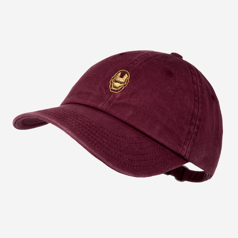 Marvel Iron Man Burgundy Washed Denim Cap