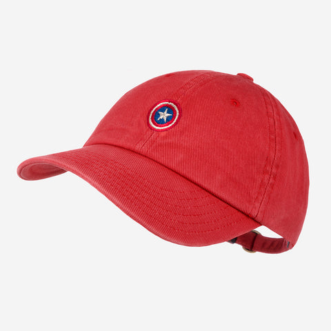 Marvel Captain America Crimson Washed Denim Cap