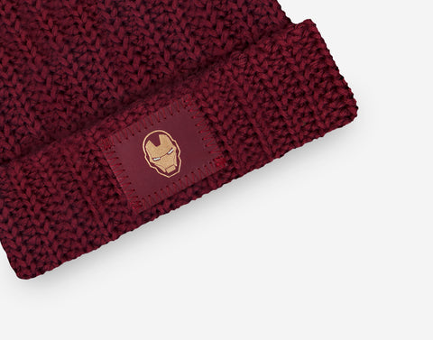 Marvel Iron Man Kids Pom Beanie