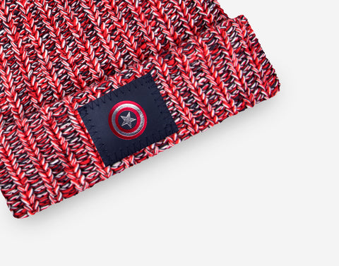 Marvel Captain America Kids Pom Beanie