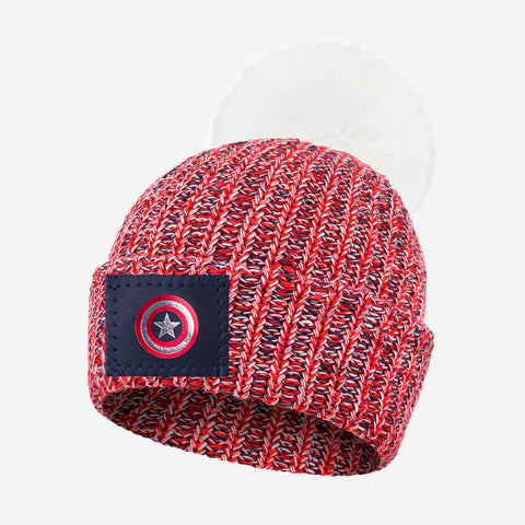 Marvel Captain America Pom Beanie