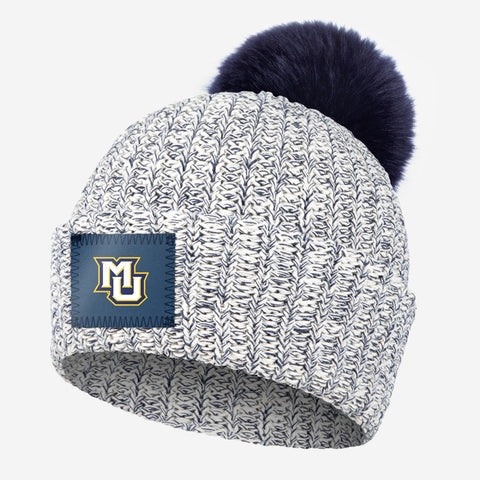 Marquette Golden Eagles Navy Speckled Pom Beanie (Navy Pom)