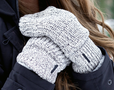 Black Speckled Knit Mittens-Accessory-Love Your Melon
