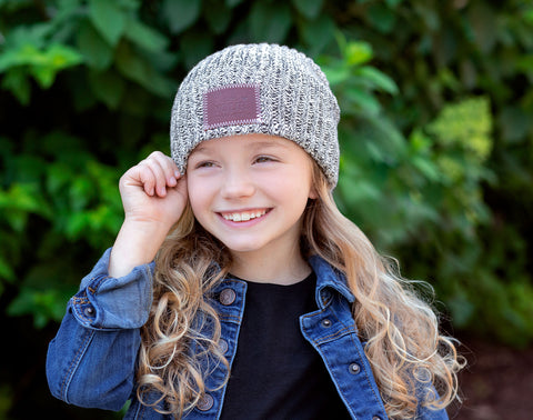 Kids Black Speckled Beanie-Beanie-Love Your Melon