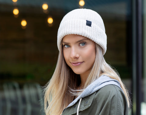 White Speckled Lightweight Beanie