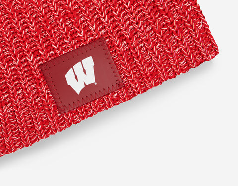Wisconsin Badgers Red and White Speckled Beanie
