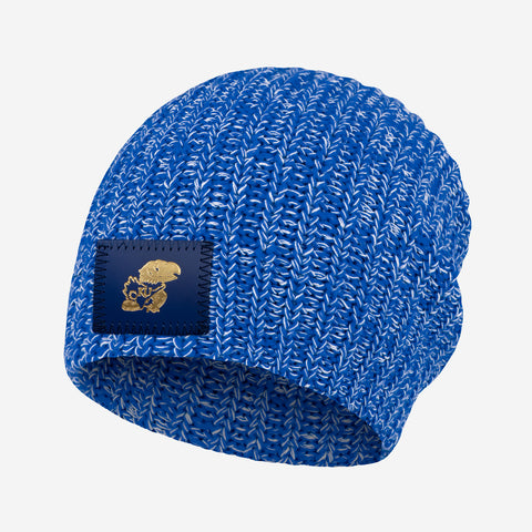 Kansas Jayhawks Royal Blue and White Speckled Beanie
