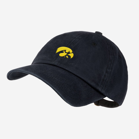 University of Iowa Black Denim Wash Cap
