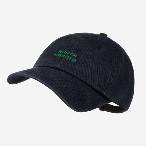 University of North Dakota Black Denim Wash Cap