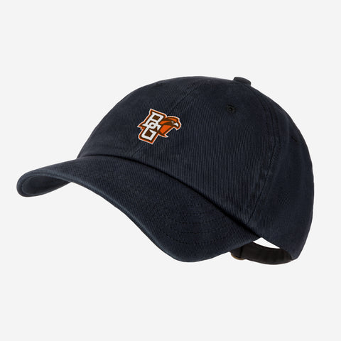 Bowling Green State University Black Denim Wash Cap