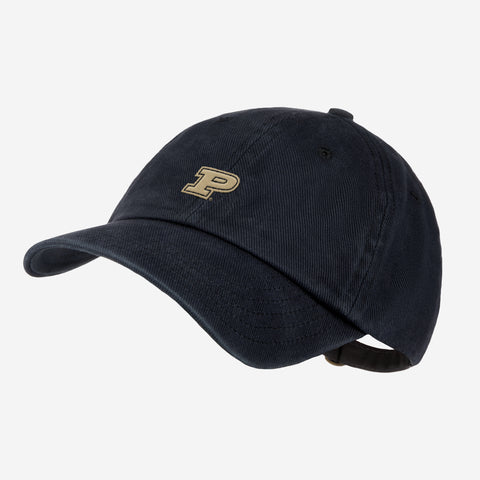 Purdue University Black Denim Wash Cap