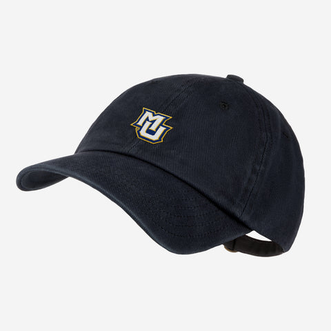 Marquette University Black Denim Wash Cap