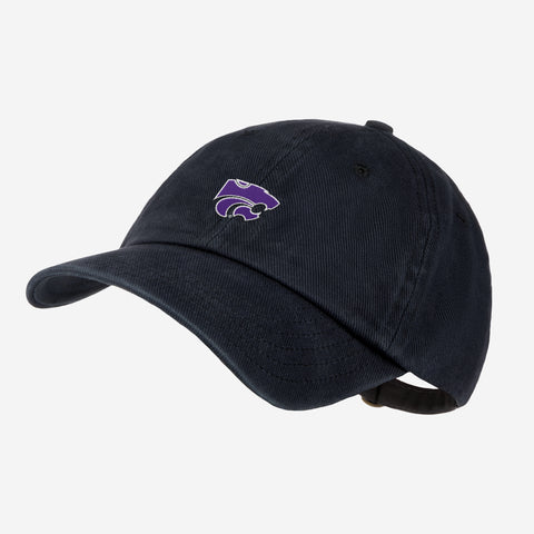 Kansas State University Black Denim Wash Cap