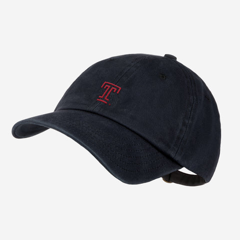 Temple University Black Denim Wash Cap