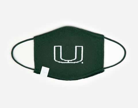 Miami Hurricanes Hunter Seamless 3D Knit Face Mask