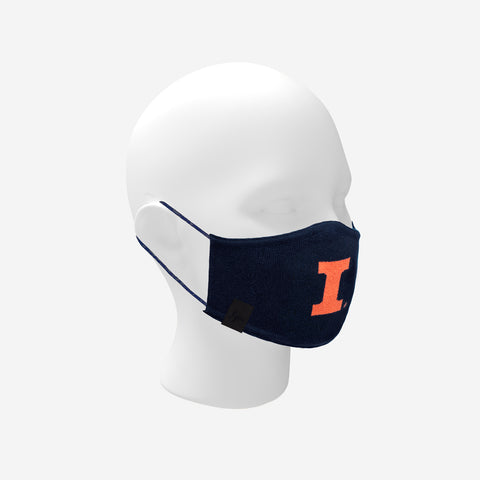 Illinois Fighting Illini Navy Seamless 3D Knit Face Mask