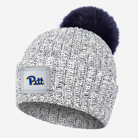 Pittsburgh Panthers Navy Speckled Pom Beanie (Navy Pom)