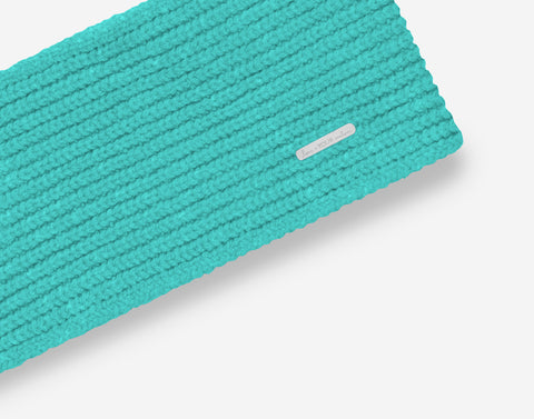 Neon Teal Cashmere Headband