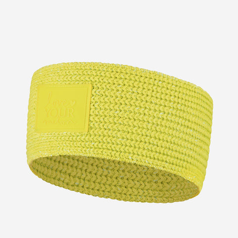 Neon Yellow Knit Headband