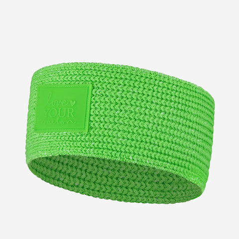 Neon Green Knit Headband