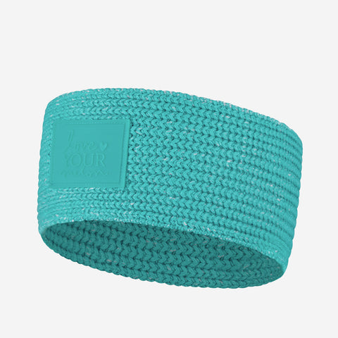 Neon Teal Knit Headband