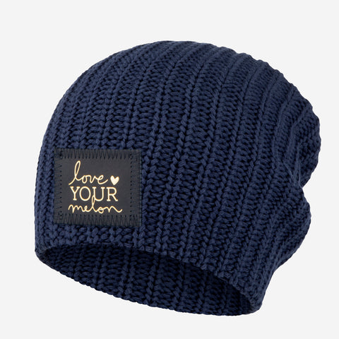 Navy Beanie (Navy Gold Foil Patch)