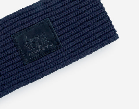 Navy Monochrome Knit Headband-Love Your Melon