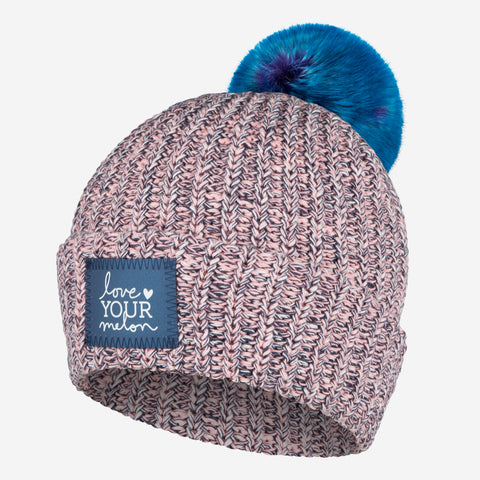Nautical Frost Pom Beanie (Navy Reflective)