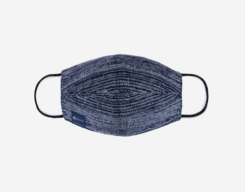 Navy and White Speckled Eco-Dri™ Knit Face Mask