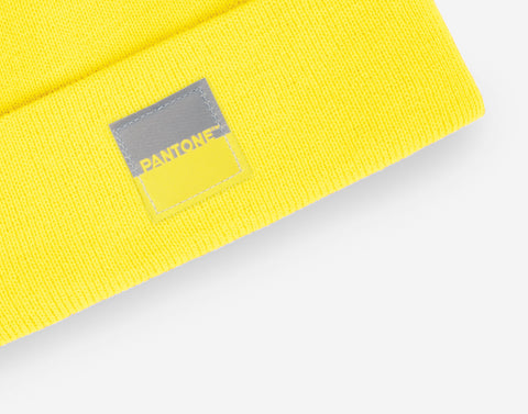 Pantone Illuminating Yellow Acrylic Cuffed Beanie
