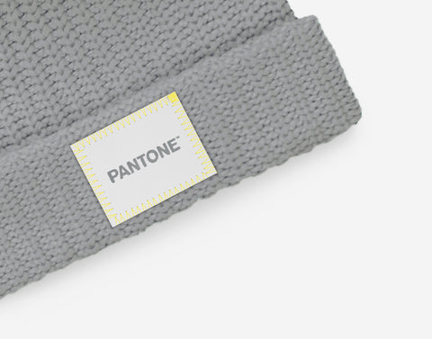 Pantone Ultimate Gray Double Pom Beanie