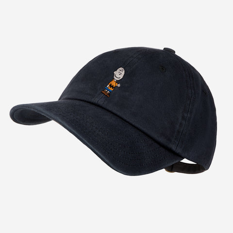 Charlie Brown Black Washed Denim Cap